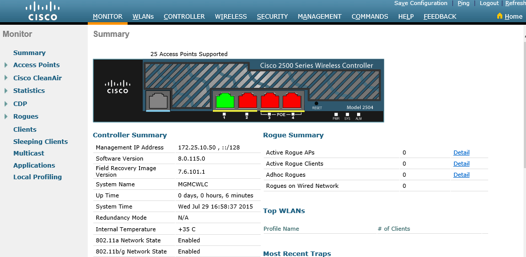 Cisco Wireless Controller Configuration – Cisco VIRL Courses